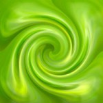 Abstract green swirl  glossy background